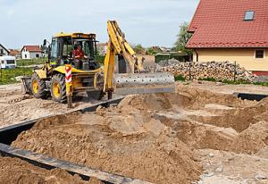 Wykop ziemny pod fundamenty Warszawa