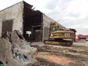 Rozbiórka budynku Jabłonna