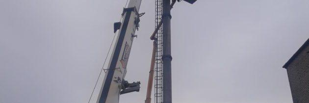 Wyburzenie komina – usługi rozbiórkowe w Warszawie